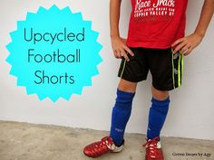 Green Issues by Agy: Upcycled Football Shorts for Junior