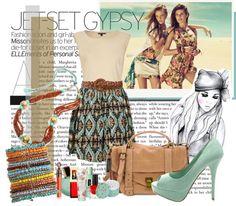 """""""Jet-Set Gypsy"""" by netty90 ❤ liked on Polyvore"""