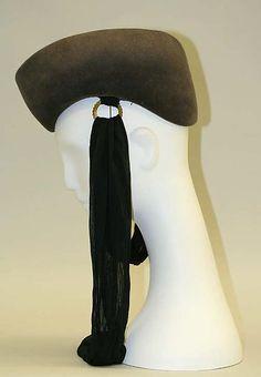 Roberta Bernays | Hat | American | The Met late 1930s wool, silk, metal Dimensions: Length (CF to CB): 9 3/4 in. (24.8 cm)