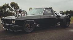 ◆ Visit MACHINE Shop Café... ◆ ~ Aussie Custom Cars & Bikes ~ (Radical, Wild Black Drag Racing 1972 HQ Holden One Tonner)