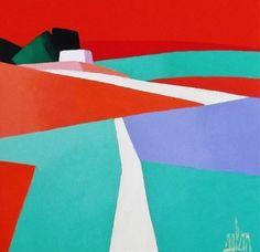 Original acrylic on canvas painting by Stephane Bulan - Paris Art Web Bauhaus Textiles, Seascape Paintings, Art Paintings, Art Web, Paris Art, Pattern Illustration, Figure Painting, Beautiful Paintings, Online Art Gallery