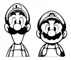 Stencil Art, Stencils, Mario Und Luigi, Machine Silhouette Portrait, Vinyl Crafts, Silhouette Projects, Game Art, Vector Art, Pop Art