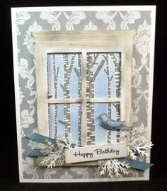 IC320 Blue with Birds by jaydekay - Cards and Paper Crafts at Splitcoaststampers