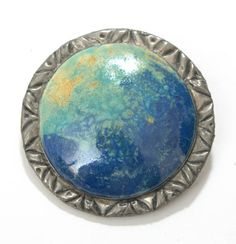 Just Fab Signed Ruskin Pottery High Fired Cabochon Arts & Crafts Jewellery Pendant 9 Art Pottery Pottery & China