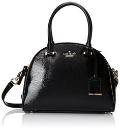 Kate Spade New York Cedar Street Patent Small Pearl Top Handle Bag, Black - http://www.womansindex.com/kate-spade-new-york-cedar-street-patent-small-pearl-top-handle-bag-black/