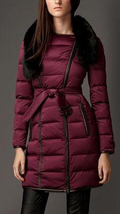 Fur Trim Down-Filled Puffer Coat