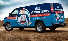 New logo design and truck wrap design for this HVAC contractor in CA.