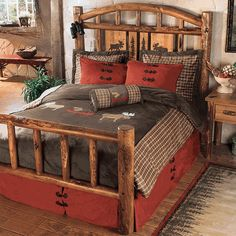 I love this bed for the spare room-Moose Creek Log Bed - Queen