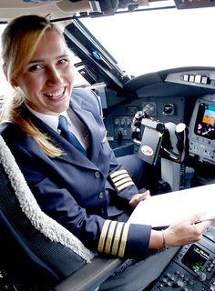Alja Bercic Ivanus Slovenian Female Airline Captain    #Slovenian #Female #Pilot