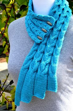 Cable Scarf Knitting Pattern Knitting Pattern Only Waterfall Cables Scarf Knit Or Crochet, Crochet Scarves, Easy Crochet, Crochet Hats, Knitting Scarves, Beginner Crochet, How To Purl Knit, Knit Cowl, Knitting Patterns Free