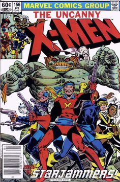 The Uncanny X-Men #156, April 1982, cover by Dave Cockrum and Bob Wiacek