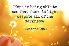 Words of wisdom from Desmond Tutu.