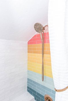 Iridescent Tile, Bathroom Inspiration, Bathroom Ideas, Budget Bathroom, Small Bathroom, Master Bathroom, Beautiful Bathrooms, Home Design, Interior Design