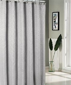 Take a look at the Silver Schillman Jacquard Shower Curtain on #zulily today!