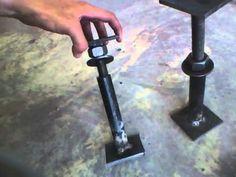 Homemade Jack Screws to Level House - Foundation repair - YouTube