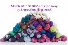 Another wonderful giveaway from ExpressionFiberArts, so many gorgeous and luxurious yarns I would love to try out :)