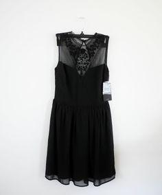 NWT ZARA COMBINED DRESS BLACK SIZE S