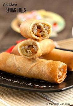 Home-made #Chicken Spring Rolls to celebrate the #Chinese New Year!
