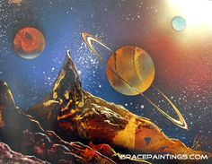 Spray paint planets