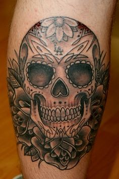 Full Back Mexican Skull Tattoo For Men photo - 4