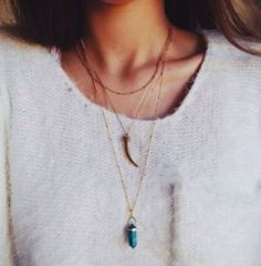 pretty layered necklaces