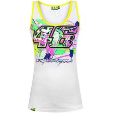 74ed413ec0490 Valentino Rossi VR46 Painted 46 Moto GP Women s Tank Top White Official  2016 Valentino Rossi 46