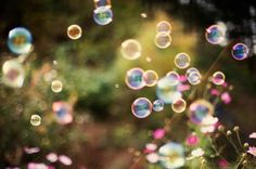 "Thinking these are ""happiness bubbles""!"