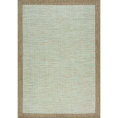 "Terrain Grey/ Brown Border Flatweave Rug (7'10 x 10'10) (7'10"" x 10'10""), Size 7' x 10' (Plastic, Abstract)"