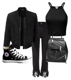 """Untitled #219"" by eloismbemba on Polyvore featuring River Island, LE3NO, Converse and Marc Jacobs"