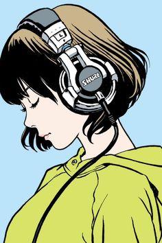 Shiggy Jr. | LISTEN TO THE MUSIC, illustrated by Hisashi Eguchi