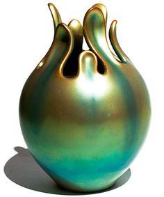 Eva Zeisel Zsolnay Fig Vase, 1983  Porcelain