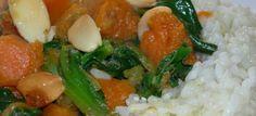 Espinacas Y calabaza al curry casero, una mezcla para chuparse los dedos.
