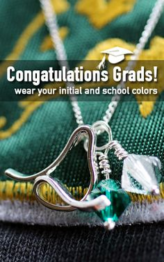 Graduation Gifts - give a gift of personalized school colors and initials. #graduationgift