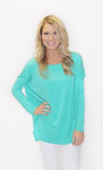 Long Sleeve Piko Top! The top that looks good on every body! $32 on www.shopriffraff.com/piko