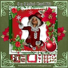 This kit includes: 8 x 8 Topper and two gift tags Insert sheet and Decoupage sheet. Six bauble sentiment tags (one blank for your own text) Happy Crafting:) Card Kit, Gift Tags, Decoupage, Card Making, Card Designs, Christmas Ornaments, Holiday Decor, Mini