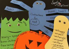 Easy Literacy Center Paper Crafts-Simple ideas to make your literacy centers more festive.