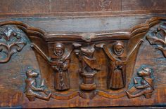 Beverley, St Mary's Church photo, Medieval misericord of fox preaching