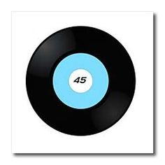 Fifties 45 Record - 6x6 Iron On Heat Transfer For White Material