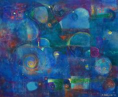 """""""Mysteries of the Deep"""" by Laurie DeVault, acrylic, 16 x20"""