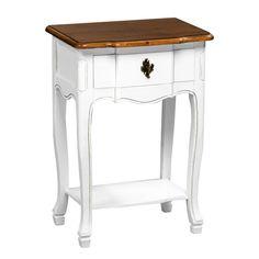 Serena Table, Single Drawer, MDF/Paulownia Wood/Distressed Finish