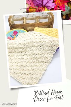 Knit So Easy quick & easy patterns = effortlessly cozy knitting. #KnittingPatterns #FallCrafts #Handknits Fall Home Decor, Autumn Home, Knitting Projects, Knitting Patterns, Knitting Ideas, Fall Knitting, Fall Crafts, Knit Crochet, Thanksgiving