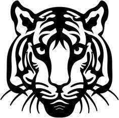Bengal Tiger Face - DXF files Cut Ready CNC Designs - DXFforCNC.com