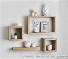 Solid American white oak floating cube shelves are made from the finest grade ki. Solid American white oak floating cube shelves are made from the finest grade kiln dried white oak For a superior fi Floating Cube Shelves, Floating Bookshelves, Floating Stairs, Diy Bathroom Vanity, Bathroom Shelves, Bathroom Storage, Shelf Wall, Bathroom Small, Bathroom Ideas