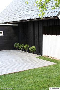 backyard, wood patio, austere landscaping