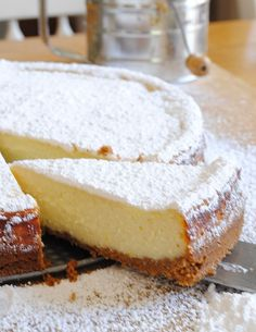 Sicilian Ricotta Cheese Cake is part of Ricotta cheese cake recipes - Easy to make Sicilian Ricotta Cheesecake with graham cracker crust Tested Italian cheesecake recipe that can be topped with berries or powdered sugar Sicilian Ricotta Cheesecake Recipe, Ricotta Cheese Cake Recipes, Italian Cheesecake, Cheesecake Recipes, Ricotta Cheese Cookies, Lemon Ricotta Cake, Cheesecake Crust, Homemade Cheesecake, Classic Cheesecake