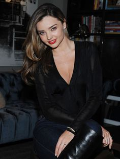 Miranda Kerr shares her favorite red lipstick, diet tips, and more