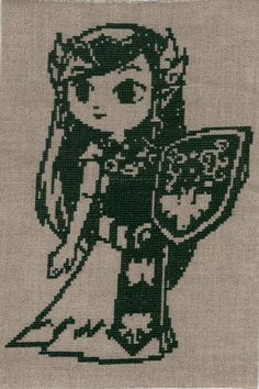 Windwaker style Zelda cross stitch