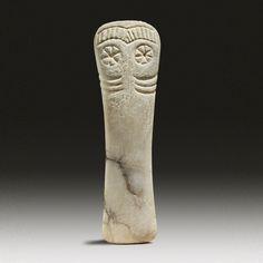 Culture : Iberian, Period : Hispanic Bronze Age I, Los Millares, Circa 3000-1800 B.C. Material : Marble