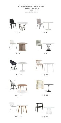 Round Dining Table and Chair Combos | Homey Oh My | Bloglovin'