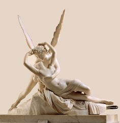Cupid and Psyche by Antonio Canova. Hermitage Museum _ Eros and Psyche -Antonio Canova Aesthetic Art, Aesthetic Pictures, Sweet Pictures, Renaissance Kunst, Eros And Psyche, Greek Statues, Ancient Greek Sculpture, Hermitage Museum, Classical Art